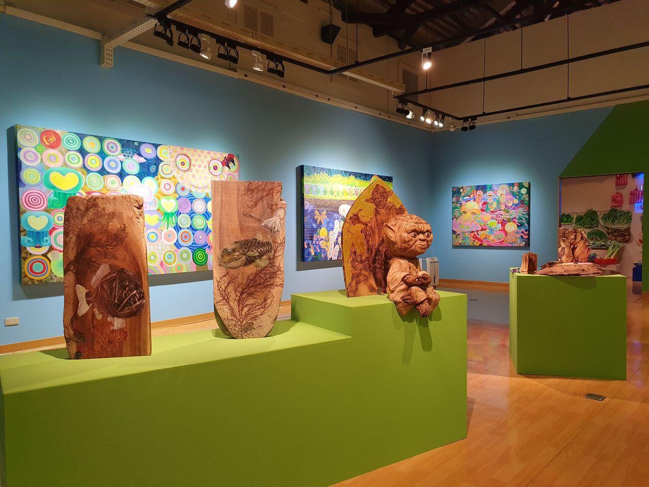 屏東縣政府邀請台灣最具代表性的當代畫會之一「悍圖社」,以「2021劃天光」為題,8月10日至10月14日於屏東美術館展出。圖/屏東縣文化處提供