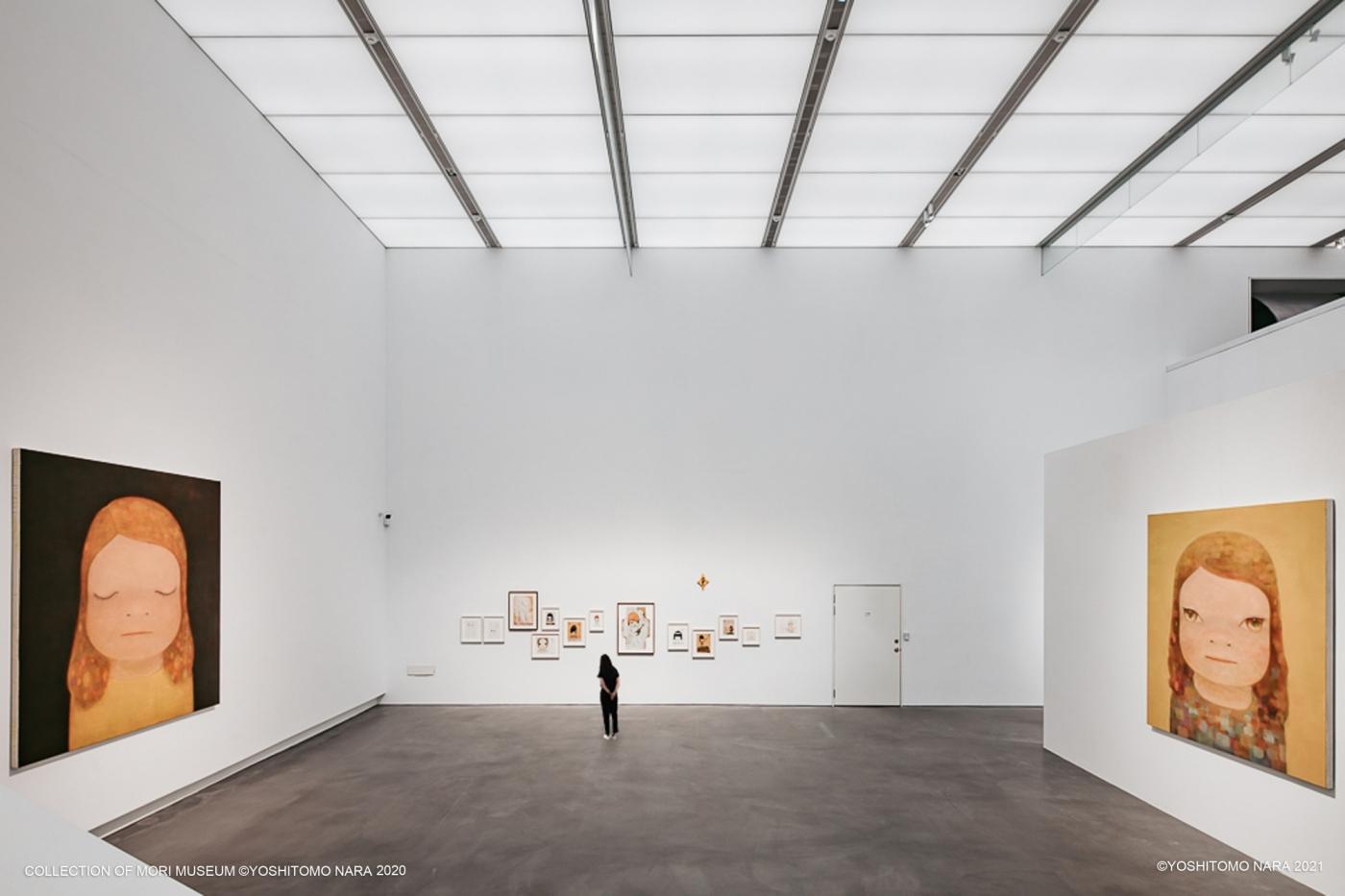 高美館《奈良美智特展》展場一景。Collection of Mori Museum ©YOSHITOMO NARA 2020 ©YOSHITOMO NARA 2021