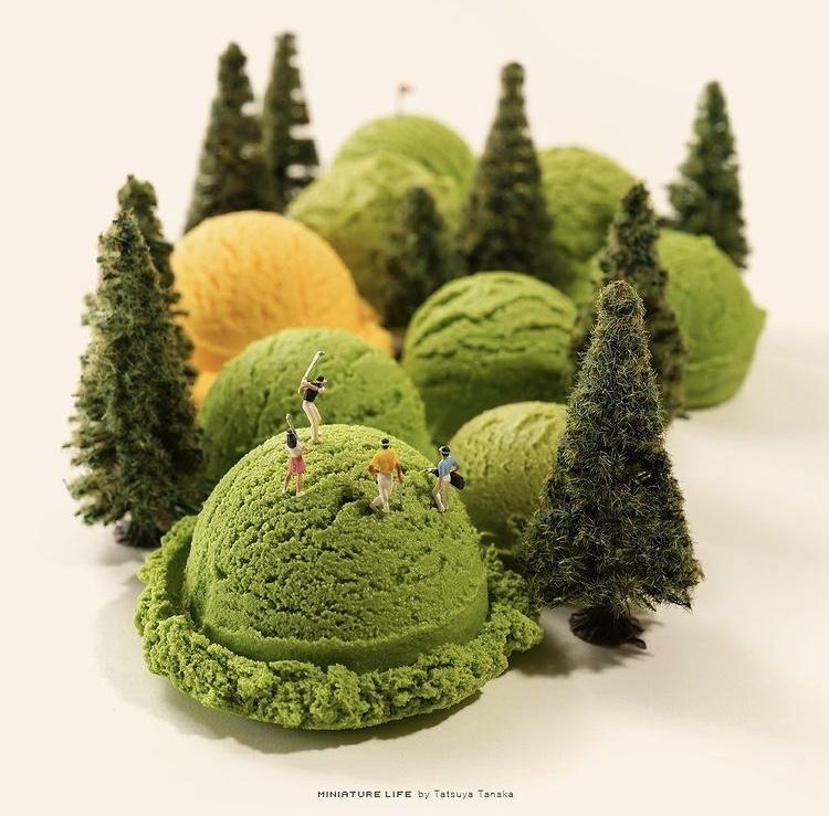 《Olympics Selection》抹茶冰淇淋是高爾夫球場的丘陵。 圖片來源/@tanaka_tatsuya IG
