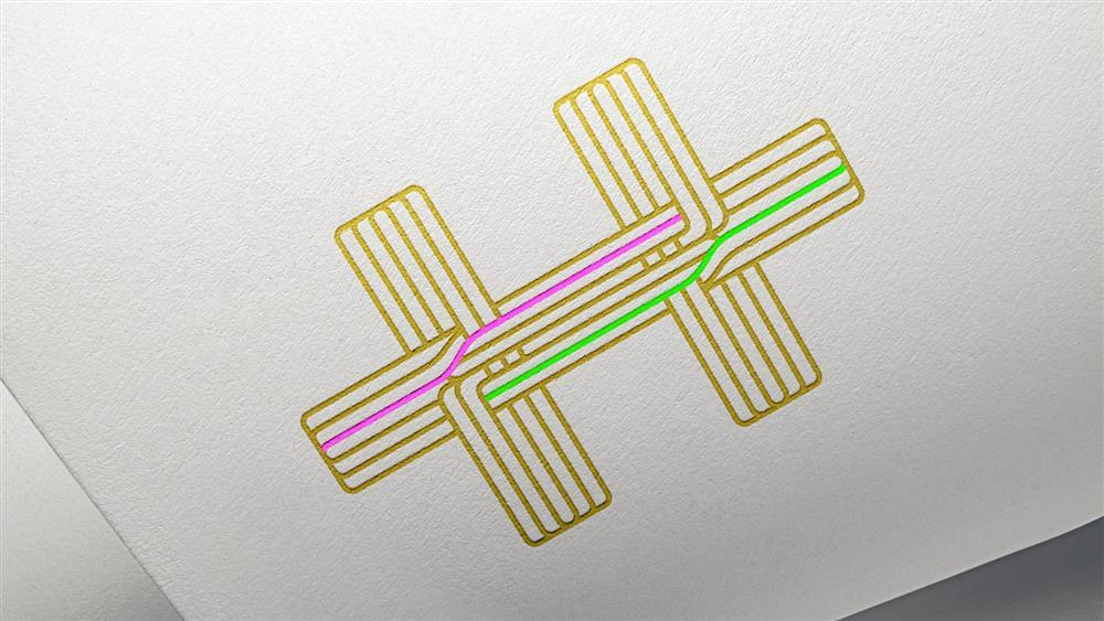 2021國慶主視覺周邊應用設計_國慶大會邀請卡 04_Logo 以局部燙金呈現